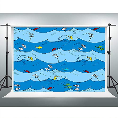 Under The Sea Fish Backdrop Children's Books Photography Background 7x5ft Baby Shower Graduation Party Nursery Room Decor Portrait Photo Shooting Studio Props ZYVV0911
