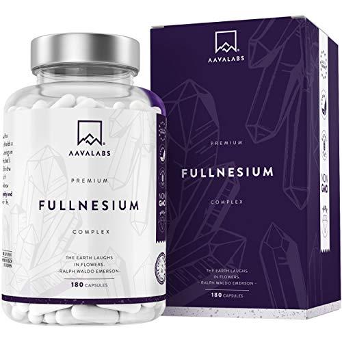Complejo de Magnesio Premium - Citrato de Magnesio, Óxido de Magnesio, Malato de Magnesio, Taurato de Magnesio - 180 Cápsulas - 400 mg/Dosis Diaria - 100% Vegano