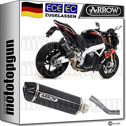 Arrow Kit de tubo de escape para coche homologado con tecnología de carbono compatible con Aprilia Tuono V4 1100 RR 2017 71744MK+71674KZ