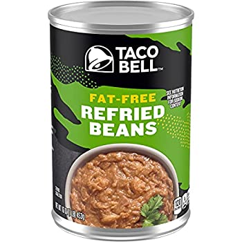 Taco Bell Fat Free Refried Beans  16oz Cans Pack of 12