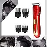 Tondeuses à Cheveux Professionnelles Machine de Coupe de Cheveux sans Fil Rasoirs de Coiffeur Outils de Coupe de Cheveux Rechargeables avec 4 Guides de Peigne