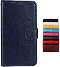 TP-LINK Neffos C5A Case Wallet style faux leather flip Case with Secure Magnetic Closure Lock and bracket function,Suitable for TP-LINK Neffos C5A (Dark blue)