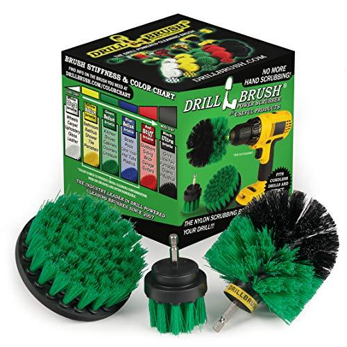Drillbrush All Purpose Badoberflächen Dusche, Badewanne und Fliesen Strom Scrubber Bürsten-Reinigungs-Kit mittelgrün