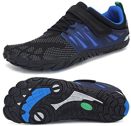 SAGUARO Klettverschluss Barfuß Schuhe für Männer und Frauen Sommer Ultraleicht Trail Laufschuhe Wasser Sportschuhe Outdoor-Übung Wasserschuhe Bootfahren Fahren rutschfest Surfschuhe, Water Blau 42
