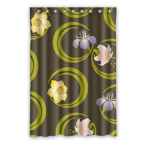 Einfache Graffiti Custom Weiß Hintergr& Muster Wasserdicht Polyester-Badezimmer-Dusche Vorhang Dusche Ringe enthalten 121,9x 182,9cm (120x 183cm), Polyester, H, 48