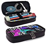 Maneskin Colorful Poster Stationery Bag Zipper Pencil Case Cosmetic Bag Storage Bag Leather Pencil Case for School Office