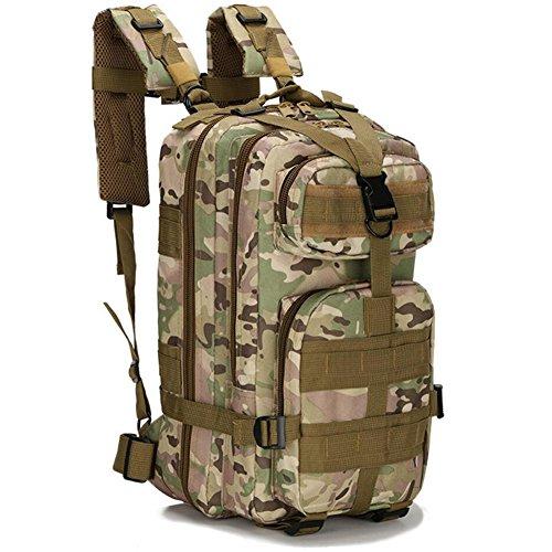 Youai Sac à dos militaire étanche en nylon 1000D 30 L pour sports de plein air camping randonnée trekking chasse pêche (6)
