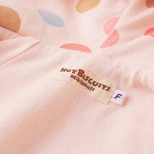 [ミキハウスホットビスケッツ]防寒シープボアジャンプスーツ73-1203-615(フリー(60-80cm),ピンク)