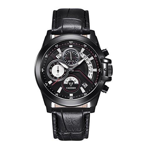 CADISEN, orologio da polso analogico, al quarzo, da uomo, con cronografo,...