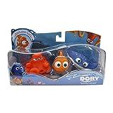 Buscando a Dory - Set de 3 Figuras de baño Nemo, Hank y Maestro Raya,...
