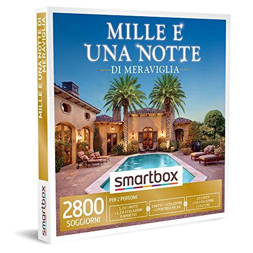 smartbox - Cofanetto Regalo - Mille e Una Notte di meraviglia - Idee Regalo - 1, 2 o 3 Notti con Scelta tra Colazione, aperitivo, Percorso Relax e Cena per 2 Persone