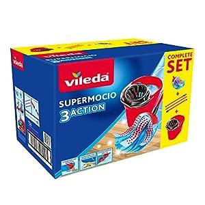 Vileda SuperMocio Serpillère XL Action Ensemble Seau et serpillère