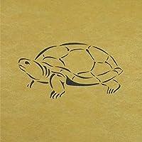 ステンシル シート 亀 カメ 3サイズ型紙 (10cm)