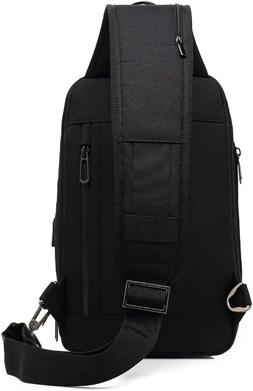 USB Charging Anti Theft Shoulder Chest Crossbody Backpack Sling Bag Daypack