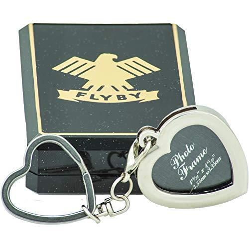 FLYBY Schlüsselanhänger Foto Herz Hochwertig edel Geschenk Box