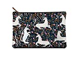Studio Oh! Large Zippered Pouch Available in 8 Designs, Sonia Cavallini Magical Unicorns