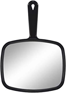 Hand Mirror Handheld Makeup Mirror with Handle for Barber Hairdressing