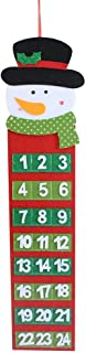 XMYIFOR Wall Hanging Countdown Decors Christmas Advent Calendar & Pockets for Chrismas Home Decor and A Gift for Chirldren