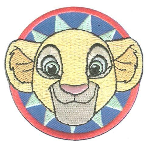 Disney El rey len Nala cabeza - Parches termoadhesivos bordados aplique para ropa, tamao: 6,7 x 6,3 cm