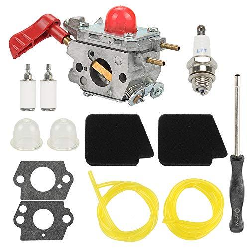 Anzac 545081857 Carburetor + 545146501 Air Filter for Zama C1U-W43 Poulan VS-2 BVM200FE GBV345 Craftsman 358794700 358794770 358794780 358794765 358794774 358794773 Blower