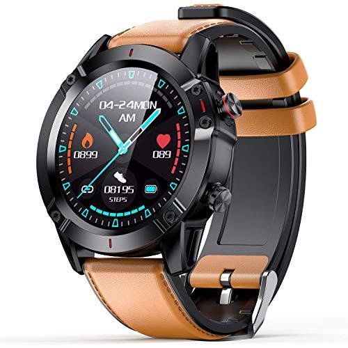 AGPTEK Smartwatch, Reloj Inteligente con Control de Oxígeno/presión Arterial/Monitoreo del Sueño, Pulsera Actividad de Fitness IP68 con Correa Repuesta para Hombre Mujer