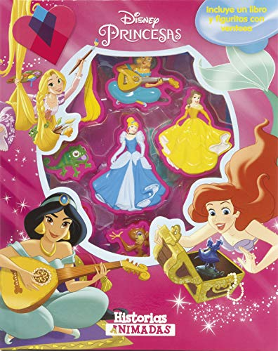 Princesas. Historias animadas: Incluye un libro y figuritas con ventosa