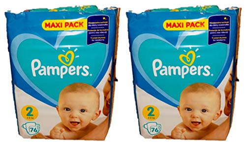 152 (2x76) Pampers Windeln NEWBORNS Gr. 2,4-8 Kg, Baumwolle weich