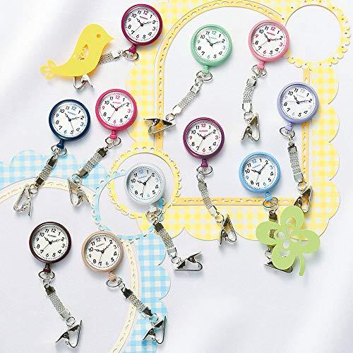 『ナースリー NEWハピプラ蓄光ナースウォッチ 逆さ文字盤 医療 看護 ナース 時計 【全13色】 アイスブルー 1085268A』の2枚目の画像