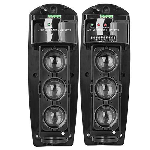Detector IR de Seguridad, Triple Haz Fotoeléctrico Alarma de Seguridad en el Hogar Detector de Infrarrojos Sensor para el Hogar(ABE-100)