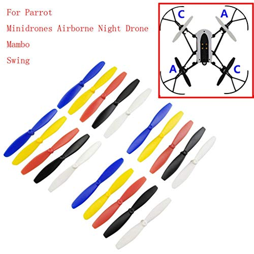 Parts & Accessories 2019 One Set RC Propeller Blade Mini Drones for Parrot Mambo UAV Parts RC Propellers for Mini Drones for Parrot Mambo UAV Parts - (Color: Black)