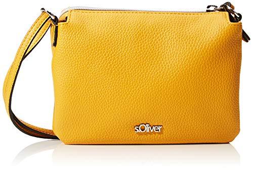 s.Oliver Damen City Bag mit zweigeteiltem Innenraum yellow 1