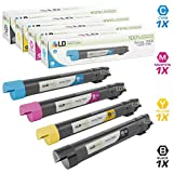 xerox company - LD Compatible Toner Cartridge Replacement for Xerox Phaser 7800 High Yield (Black, Cyan, Magenta, Yellow, 4-Pack)