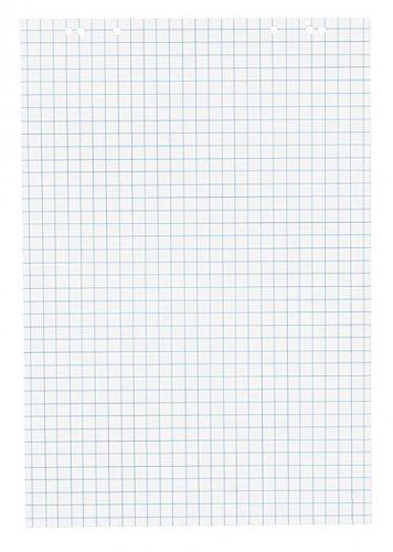1x Flipchartblock, kariert, Block mit 20 Blatt 69x99 cm, 6 fach Lochung, perforiert, für Flipchart