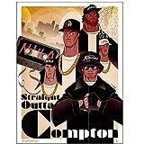 QQWER NWA Eiswürfel Dr. DRE Gangsta Rap Art Poster