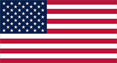 StickerTalk Proportional USA Flag Vinyl Sticker, 7 inches by 3.8 inches