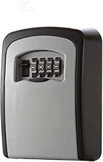Key Storage Security Lock, V-Resourcing Wall Mounted Outdoor Key Safe Lock Box with 4-Digit Combination Secure Cabinet, to Share and Secure Keys for Home,Office,Garage etc