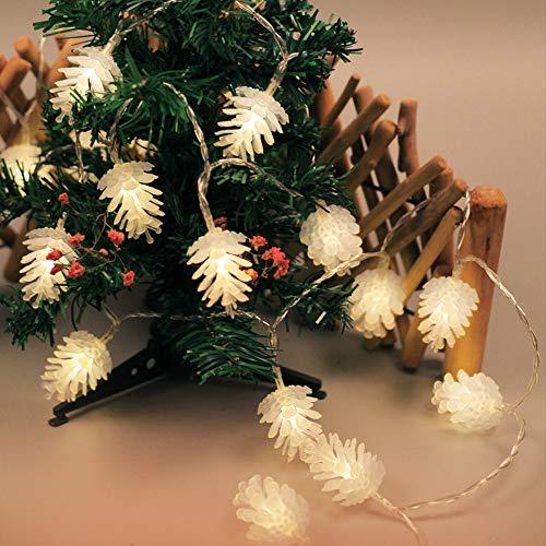 Lichterkette Warmweißes Led-Lichterketten Dekorativ Lichter String Konstant Leuchtende Lampe Weihnachten Weihnachtsschnur AußEn Wasserdicht Kupferdraht Lichterketten Zimmer Deko
