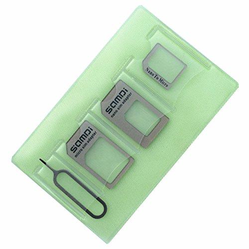 Sim Karten Adapter Set ( Nano sim Micro sim Standard sim Eject Pin Lagerung ärmel ) Speziell für iPhone 7 6 5 4 Benutzer,mittlerweile nützlich für Samsung Nokia HTC HUAWEI