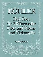 KOHLER G.H. - Trios (3) Op.86 para 2 Flautas y Violoncello (Partes) (Pauler)