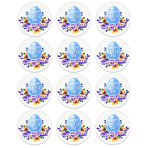 Party Decorations 24/48Pcs Happy Easter Self Adhesive Paper Sticker Cake Baking Sticker Labels Easter Party Gift Bag Box Envelope Seal Decoration