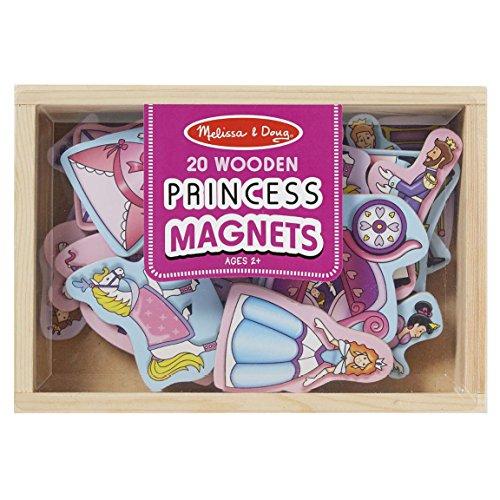 Melissa & Doug- Magnets Princesse en Bois 20 pièces, 19278