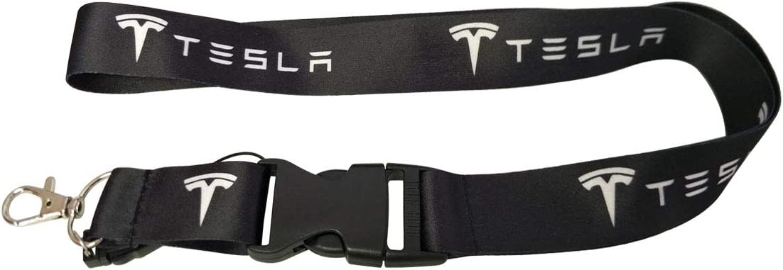 Westbond 1pc Collection Design Lanyard for Tesla Car SUV Roadster Model 3 X Electric Car Motorsport Racing Decorative Accessories Gift Buckle Clasp S