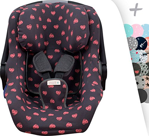 2 et Chicco YOUniverse 1 Janabebe Housse pour Chicco Seat Up 0 Fluor Heart