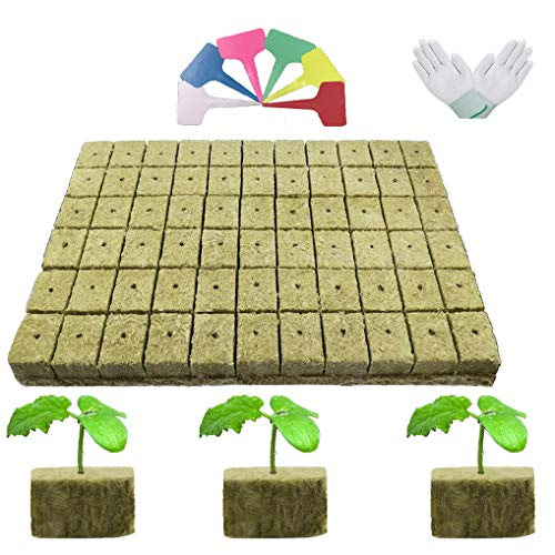WOWOP Cube+ rockwool Cubes for hydroponics 2 inches Rockwool Cubes Starter...