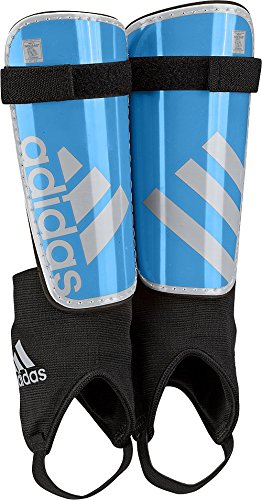 adidas Performance Ghost Youth Shin Guards, Solar Blue/Silver Metallic Grey, Medium