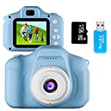 Kids Camera Toys for 4-8 Year Old Boys Toddler Rechargeable Cameras with 2 Inch IPS Screen for Children Birthday Gift Idea by Coodoo(Free 16GB Memory Card Included)