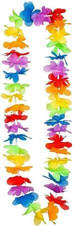 silber Accessoire Hawaiiketten Karneval Boland 52209 20 St/ück Blumenketten Beach Party Mottoparty Halsschmuck Halskette Partydekoration