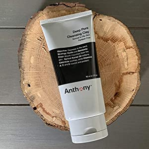 Anthony Deep Pore Cleansing Clay, 3 Fl Oz, Contains Kaolin and Bentonite Clays, Apricot Oil, Calendula, Vitamins A, C, and E, Removes Dirt, Sweat, and Oil While Deep Cleansing and Exfoliating Skin