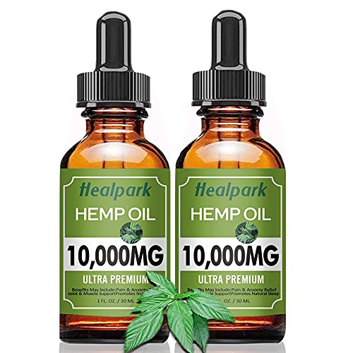 hb oils center hemp oils (2 Pack 10000mg) Hemp Oil - Natural Organic Hemp Seed Extract Hemp Drops Rich in Vitamin & Omega 3 6 9, Zero THC CBD Cannabidiol