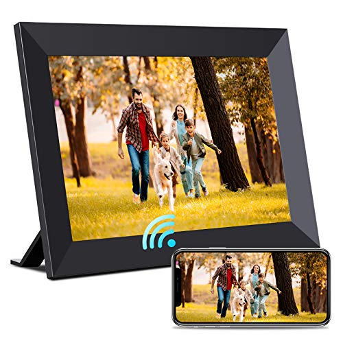 BIGASUO Digital Picture Frame – 10 inch WiFi Digital Frame IPS Touch Screen 1080P Photo Frame, 16GB Large Memory Share Moments Instantly via Mobile APP, Auto-Rotate, Support USB and SD Card